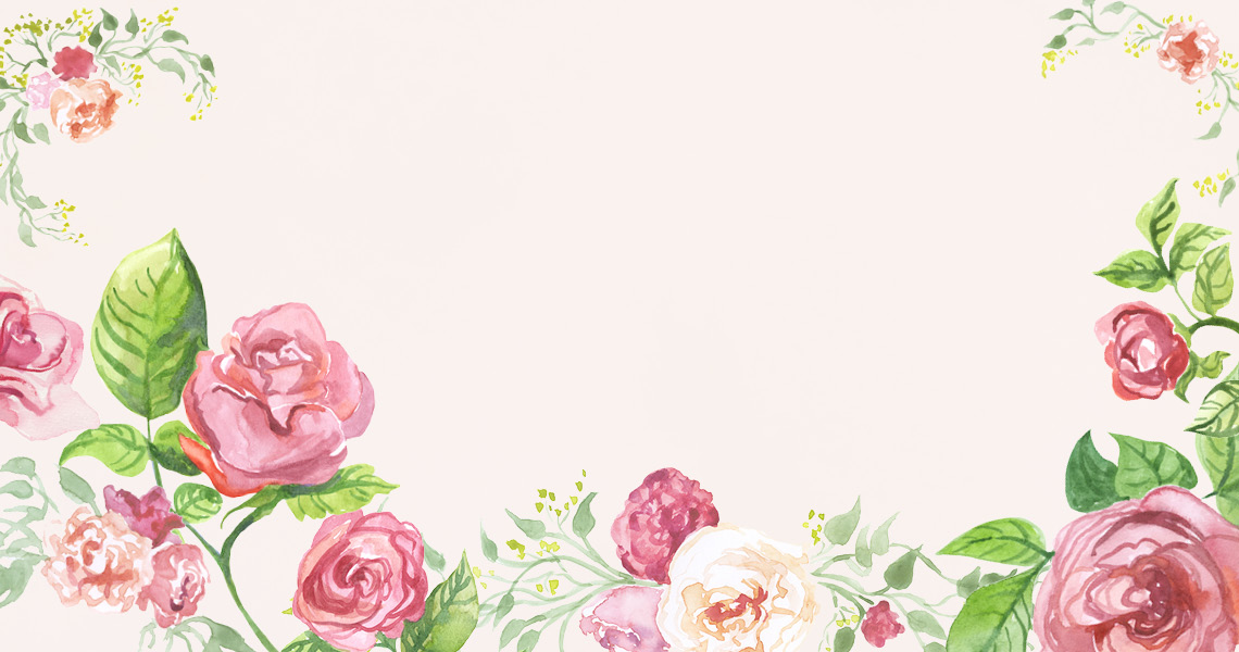 Spring Pink Roses Slider Watercolors